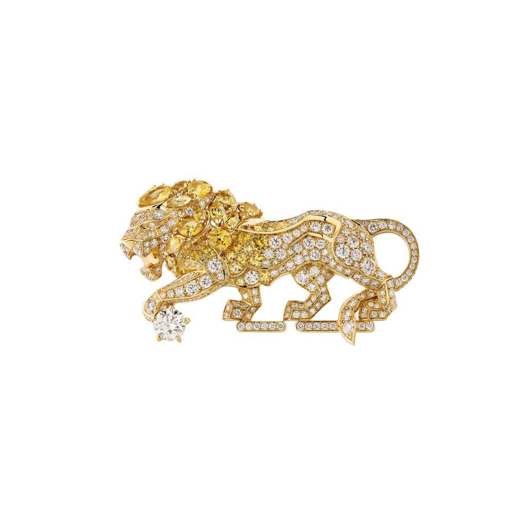 Chanel-Broche-Timeless-gold-diamond-lion
