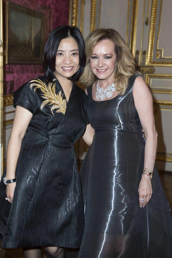 Guo Pei with Caroline Scheufele