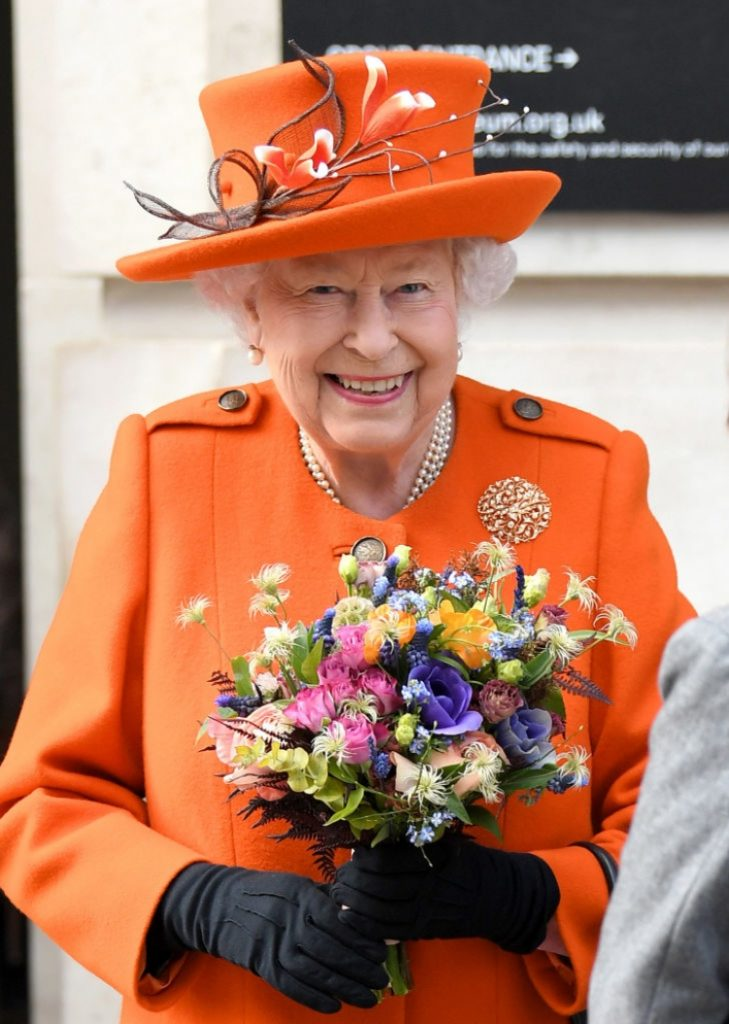 Queen Elizabeth II wearing Foundation Jewellers brooch