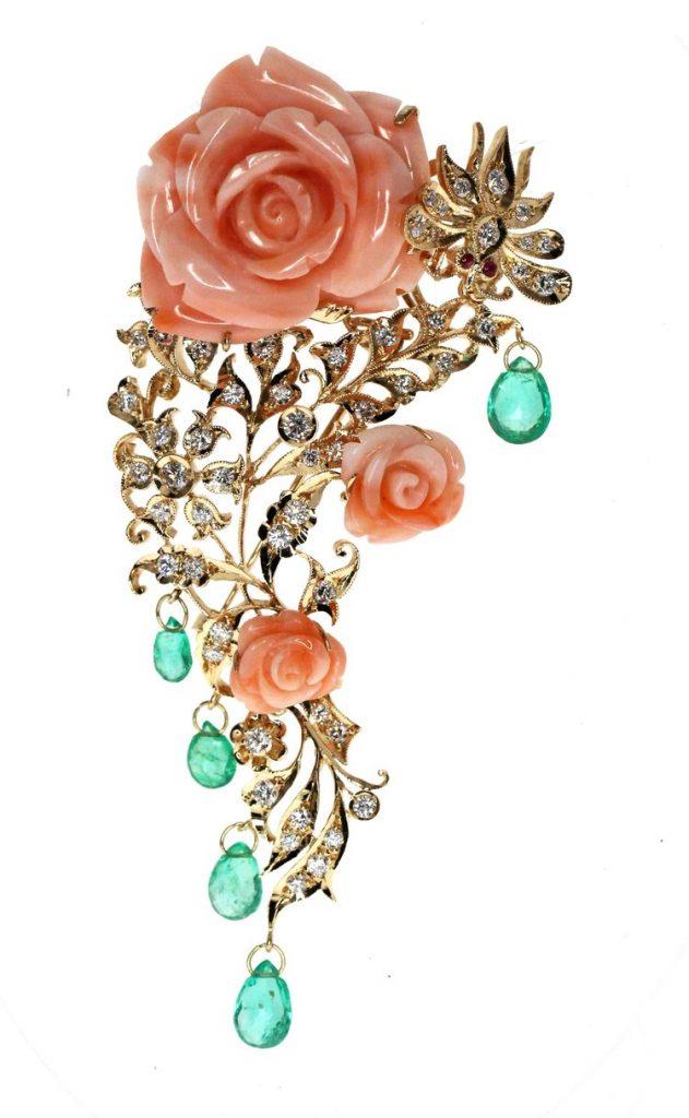 Foundation Jewellers Flower & Bee brooch