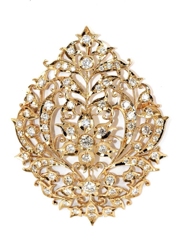 Foundation jewellers flower motif brooch peranakan jewellery