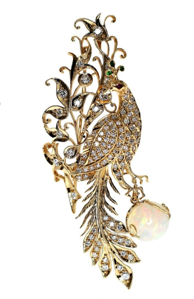 Foundation Jewellers Peacock Brooch