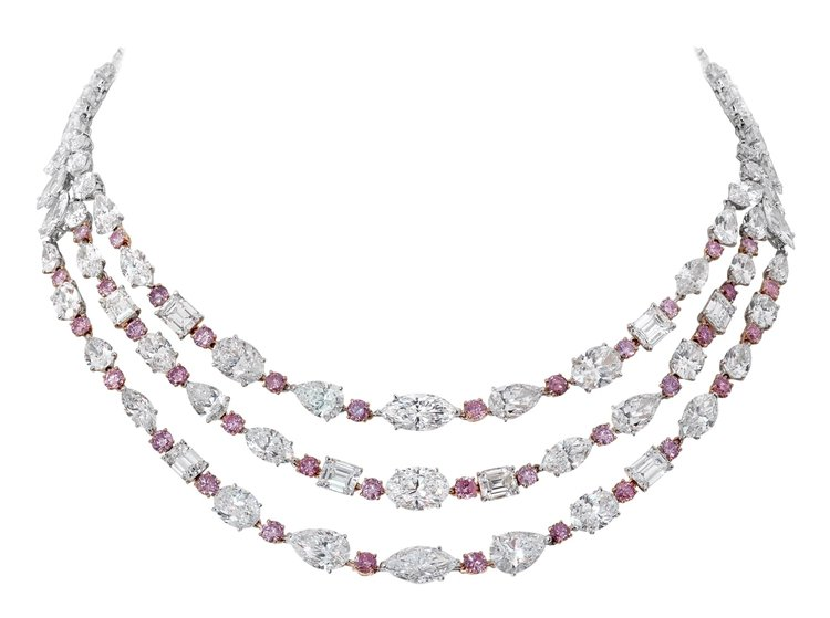 House of Moussaieff Pink and White Diamond Bridal Collection