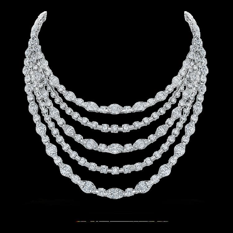 Diamond bridal necklace